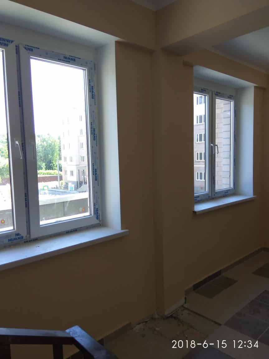 korpus2.  - Дом 2 - Установлены подоконники на окнах в МОПах