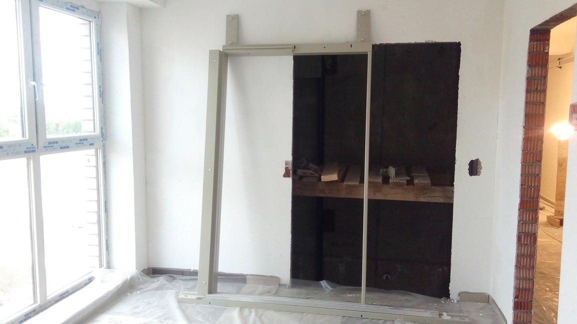 korpus 6 s 1 ustanovka portala liftovoj shahty - Дом 6 - В секции 1 начата сборка кабины лифта