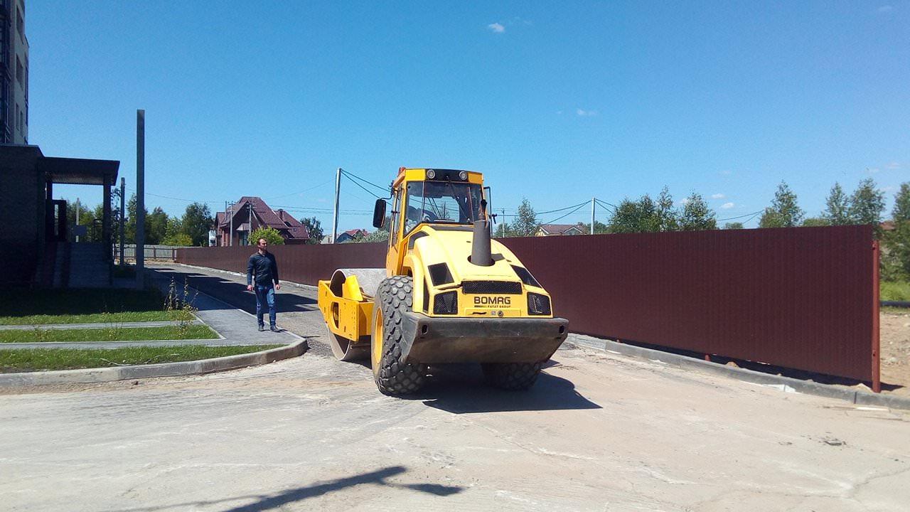 trombovka osnovaniya pod asfalt za korpusom 6 - 15 июня 2018 / Территория - За корпусами 2, 4, 6 завершаются работы по увеличению парковочного пространства