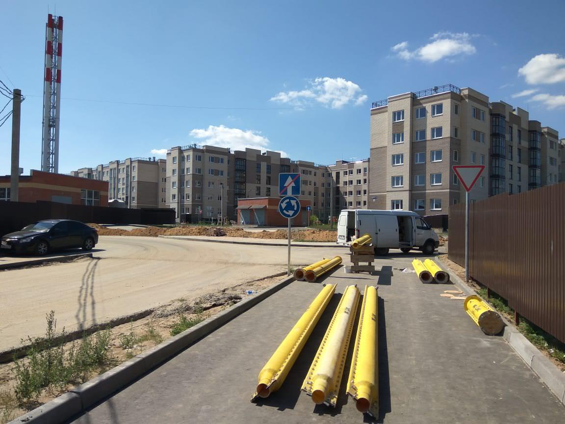 montazh gazovoj magistrai - 3 августа 2018 / Территория - Производятся работы по укладке газовой магистрали
