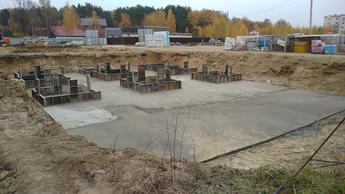 korpus.9 - Дом 9 - Начато формирование бетонной подушки под фундамент