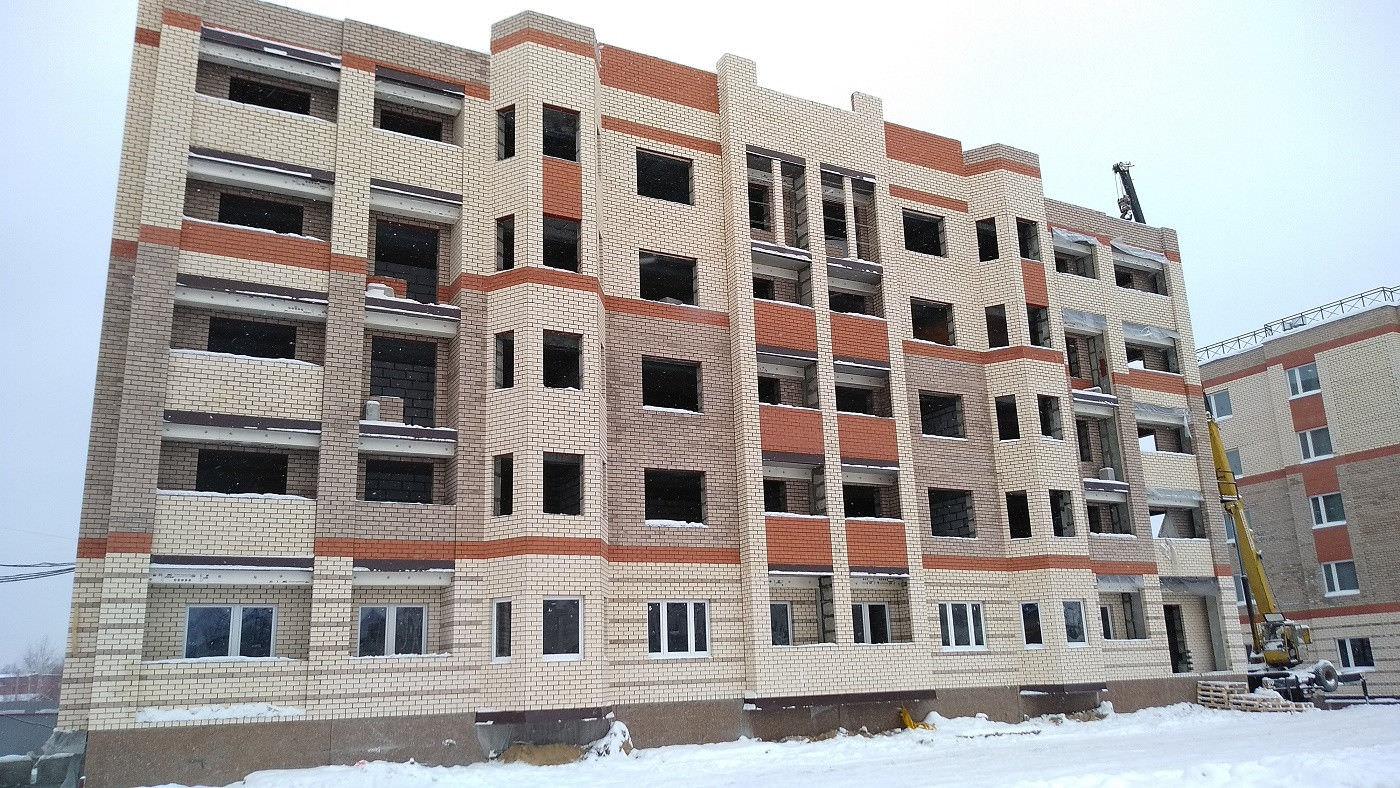 korpus 7 - 27 декабря 2018 / Дом 7 - Кирпичная кладка фасада корпуса завершена на 90%