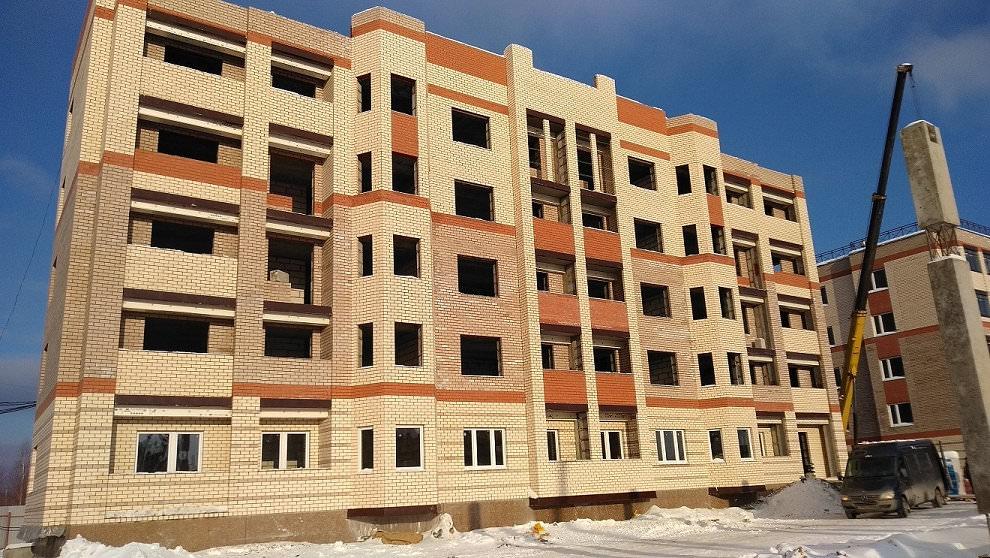 korpus 7 - 16 января 2019 / Дом 7 - Кирпичная кладка фасада корпуса завершена на 90%